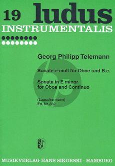 Telemann Sonate e-moll Oboe-Bc (Lauschermann)