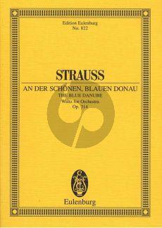 Strauss An der Schonen Blauen Donau (Waltz) Op. 314 Orchestra (Study Score) (edited by Viktor Keldorfer)