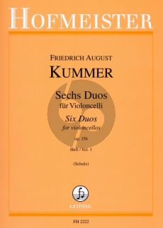 Kummer 6 Duos Op.156 Vol.1 2 Violoncellos (Schulz)