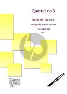 Godard Quartett No.3 2 Flutes-Alto-flute and Bass-flute (Score/Parts) (transcr. by Robert Rainford)