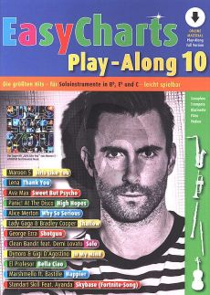 Easy Charts Play-Along Vol.10 (all C.-Bb-Eb. Instr.) (Book with Audio online) (Uwe Bye)