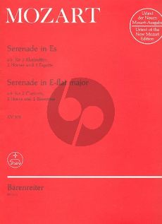 Mozart Serenade KV 375 Es-dur (2 Clar.[Bb]-2 Horns[Eb] 2 Bsns) (Parts) (edited by Leeson and Neal)