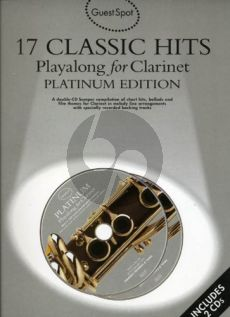 Guest Spot 17 Classic Hits Playalong clarinet book-CD