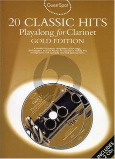 Guest Spot 20 Classic Hits Playalong Gold Ed. clarinet book-CD