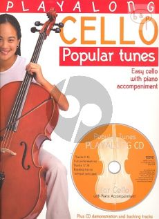 Popular Tunes Playalong (Bk-Cd) (Moderately Easy Pieces for Violoncello with Piano Accompaniment)