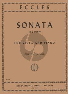 Eccles Sonata g-minor Viola and Piano (arr. Milton Katims)