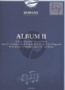 Album Vol.2 (10 Easy Pieces) Viola-Piano (Bk-Cd) (Dowani)