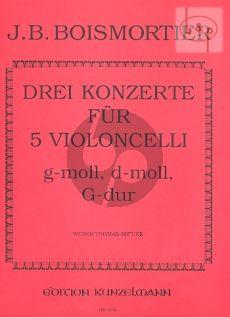3 Concerti (G-dur-d-moll-g-moll) (5 Vc.)
