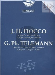 Fiocco Allegro together with Telemann Sonatina A-major (Viool-Piano)