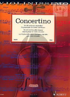Concertino Violin and Piano (Violinissimo Vol. 1)