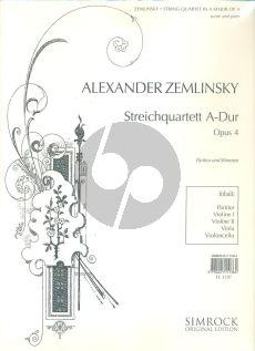 Zemlinsky Streichquartett Op.4 A-dur (Part./Stimmen)