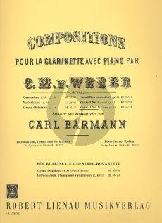 Weber Konzert No.2 Es-dur Op.74 Klarinette-Klavier (Carl Baermann)