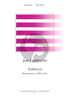 Lambrechts Embryon (Monologues) (1965) Flute solo (Grade 5)