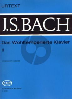 Bach Wohltemperierte Klavier Vol.2 Urtext (Without Fingering) (Edited by István Lantos)