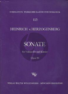 Herzogenberg Sonate Op.94 Violoncello-Klavier