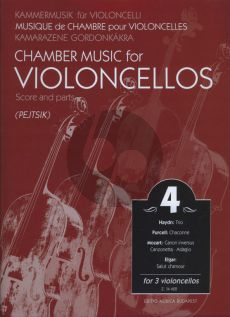 Chamber Music for Violoncellos Vol.4 (3 Vc) (Score/Parts) (Arpad Pejtsik)
