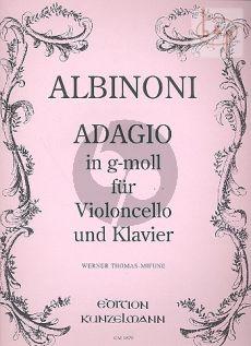 Adagio g-Moll Violoncello-Klavier