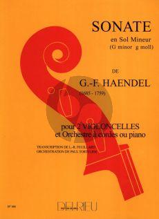 Handel Sonate g-minor Op.2 No.8 HWV 392 2 Violoncelles-Bc (Feuillard)