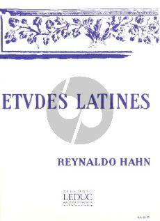 Hahn Etudes Latines 1-2 Voix avec Piano (textes Leconte de Lisle)