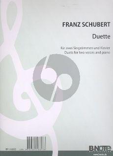Schubert Duette 2 Singstimmen-Klavier (Friedlaender)