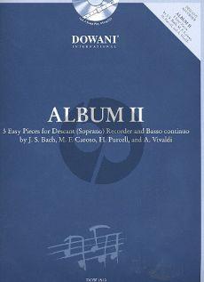 Album 2 (5 easy Pieces) Descant (Soprano) Recorder and Basso continuo) (Bk-Cd) (Manfredo Zimmermann)