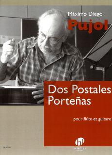Pujol Dos Postales Portenas Flute et Guitare