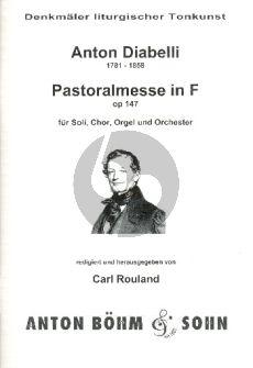 Diabelli Pastoral Messe F-dur Opus 147 SATB und Orchester (Klavierauszug) (Schnerich-Rouland)