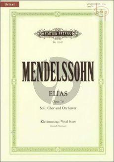 Elias Op.70 Soli-Chor-Orch. Klavierauszug (dt.)