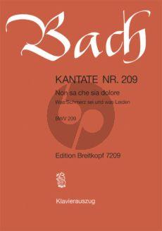 Bach Kantate No.209 BWV 209 - Non sa che sia dolore (Was Schmerz sei und was leiden) (Italienisch/Deutsch) (KA)