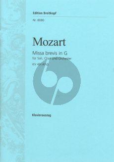 Mozart Missa Brevis KV 49 (47d) Klavierauszug