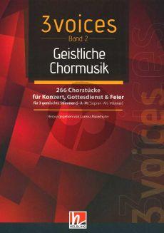 3 Voices - Chorbuch SAM - Band 2 (Geistliche Chormusik) 266 Chorstücke für Konzert, Gottsdienst und Feier für 3 gemischte Stimmen