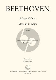 Beethoven Messe C-dur Op.86 SATB soli-SATB-Orch. (Choral Score) (lat.) (edited by Barry Cooper)