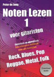 Peter de Jong Noten lezen voor gitaristen deel 1 (Boek met Download Audio)