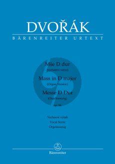 Dvorak Messe D-dur Op.86 Soli-Chor-Orgel (Orgelfassung) (Klavierauszug (lat.) (herausgegeben von Haig Utidjian)