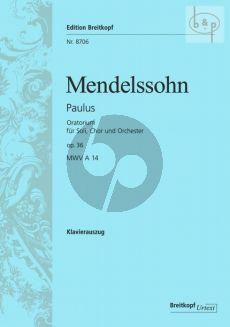Paulus Op.36 (MWV A14) (Soli-Choir-Orch.) Vocal Score (germ.)