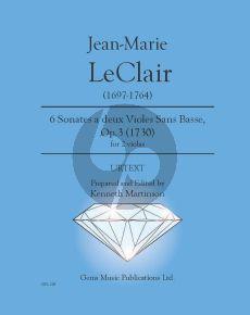 Leclair 6 Duets Op.3 No.1-6 ed. Kenneth Martinson (2 Violas)