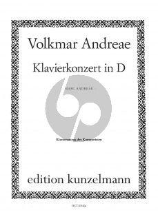 Andreae Klavierkonzert in D-dur Klavier und Orchester (Klavierauszug) (Marc Andreae)