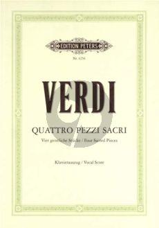 Verdi 4 Pezzi Sacri (SATB-Orch) (Vocalscore) (Soldan)