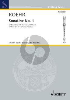 Roehr Sonatine No.1 F-major Descant Recorder (Violin)-Piano