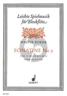 Roehr Sonatine No.3 F-major Descant Recorder (Violin)-Piano