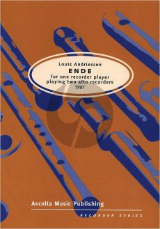 Andriessen Ende (1981) 2 Alto Recorders (1 Player)