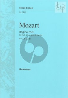 Regina Coeli C-major KV 276[321b] (Soli-Choir- Orch.) (Vocal Score)