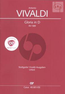 Vivaldi Gloria RV 589 D-dur Soli [SSA]-SATB-Orchestra Vocal Score) (Günter Graulich)