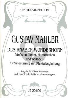 Mahler 15 Lieder-Humoresken und Balladen aus des Knaben Wunderhorn Höhere Stimmlage