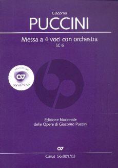 Puccini Messa a 4 Voici (Messa di Gloria) (Soli-Choir-Orch.) (Vocal Score) (lat.)
