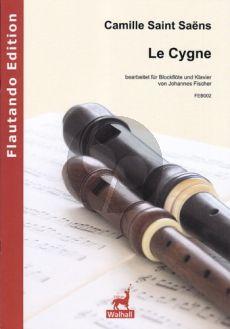 Saint-Saens Le Cygne (Le Carneval des Animaux) Sopran[Tenor] oder Altblockflöte-Klavier (transcr. Johannes Fischer)