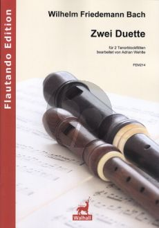 Bach 2 Duette (F-dur F 61 - g-moll F 62) 2 Tenorblockflöten (Adrian Wehlte)