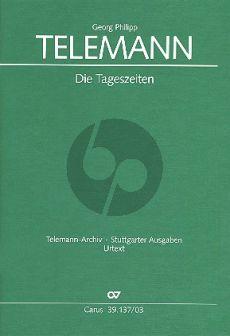 Telemann Die Tageszeiten TWV 20:39 Soli-Chor-Orchester Klavierauszug (ed. Brit Reipsch)