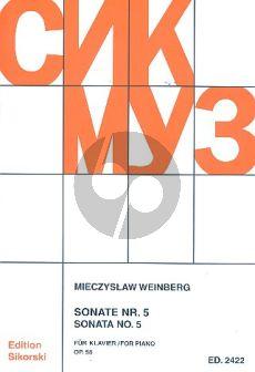Weinberg Sonate No.5 Op.58 fur Klavier