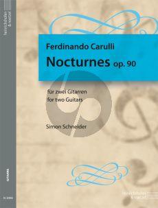 Carulli Nocturnes Op.90 2 Guitars (edited by Simon Schneider)